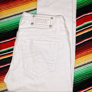 [Miss Me] White Skinny Jeans JD1003S19 - Size 26